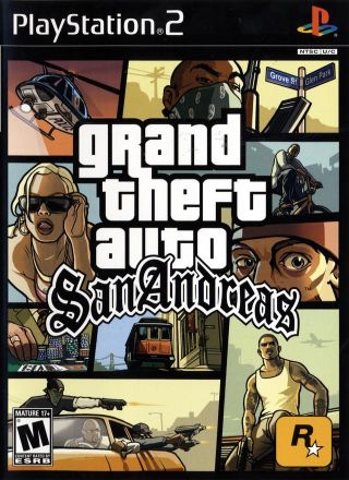 Capa Jogo Grand Theft Auto San Andreas PS2