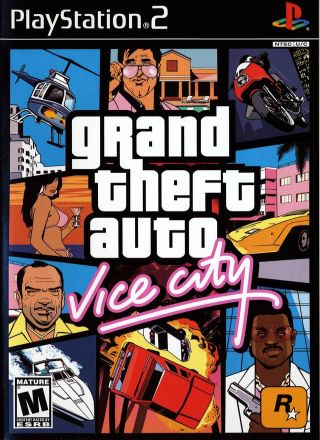 Capa Jogo Grand Theft Auto Vice City PS2