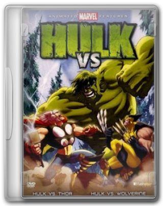 Capa do Filme Hulk vs Thor e Hulk vs Wolverine