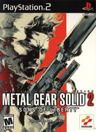 Capa Jogo Metal Gear Solid 2 Sons of Liberty PS2