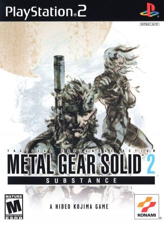 Capa Jogo Metal Gear Solid 2 Substance PS2