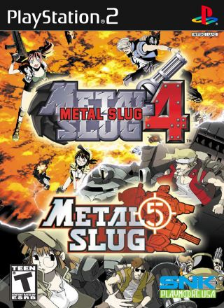 Capa Jogo Metal Slug 4 and 5 PS2