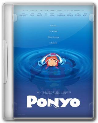 Capa do Filme Ponyo Uma Amizade que Veio do Mar