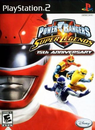 Capa Jogo Power Rangers Super Legends PS2