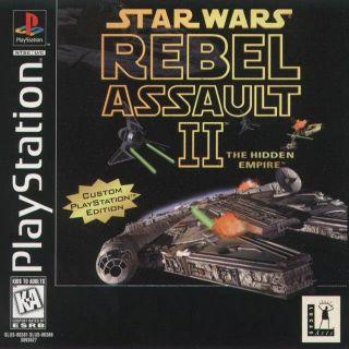 Capa Jogo Star Wars Rebel Assault 2 The Hidden Empire PS1