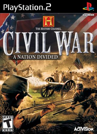 Capa Jogo The History Channel Civil War A Nation Divided PS2