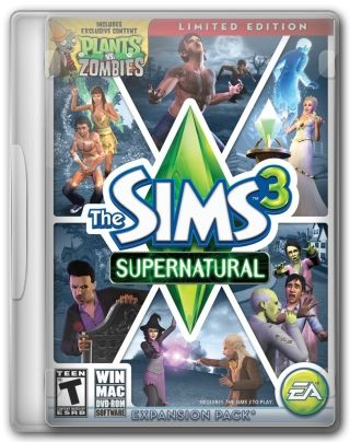 Capa Jogo The Sims 3 Supernatural PC