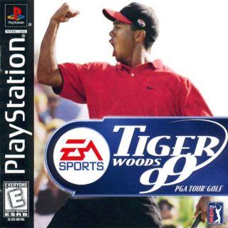 Capa Jogo Tiger Woods 99 PGA Tour Golf PS1