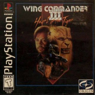 Capa Jogo Wing Commander 3 Heart of the Tiger PS1