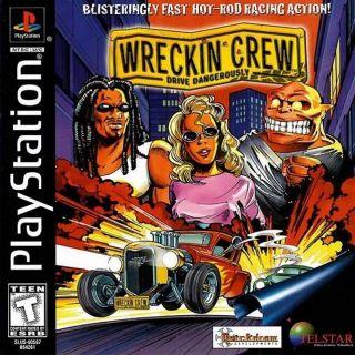 Capa Jogo Wreckin Crew Drive Dangerously PS1