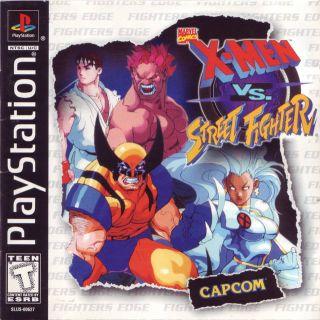 Capa Jogo X-Men vs Street Fighter PS1